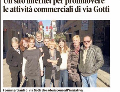 """Da""""Il Tirreno"""" Un sito internet per promuovere le attività commerciali e i negozi di Via Gotti"""
